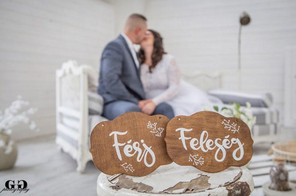 Téli esküvői fotózás – Andi & Imi